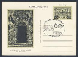 Poland Polska Polen 1978 Karte Card – Dezember 1918 - 1. Nationaler ZZK-Kongress - Gewerkschaft Der Eisenbahner - Treinen