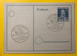 9567 -  Entier Postal Heinr. V. Stephan Leipzig 18.02.1948 100 Jahre Kommunistisches Manifest - [7] République Fédérale