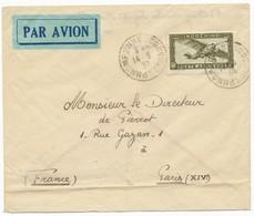INDOCHINE ENV 1939 PHNOMPENHN CAMBODGE LETTRE AVION => PARIS - Storia Postale
