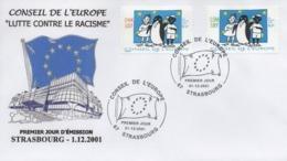 C11  Conseil De L'Europe FDC 01/12/2001  TTB - Lettres & Documents