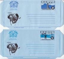 Kenya 2 Mint Aerogrammes, 1 Sh And 3 Sh - Kenya (1963-...)