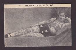 CPA Tatouage Tatou Phénomène Cirque Circus Cirk Non Circulé Maud Africona - Cirque
