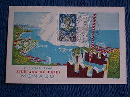 PREMIER  JOUR    1960  //  AIDE  AUX  REFUGIES  DE  MONACO  --  état Sup  Numérotée - Postcards