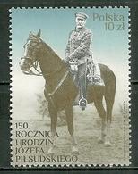 POLAND MNH ** 4573 Jozef Pilsudski Cheval Horse Militare - 1944-.... Republik