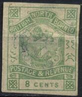 British North Borneo, 1891, Coat Of Arms, 8 C., Used - Malesia (1964-...)