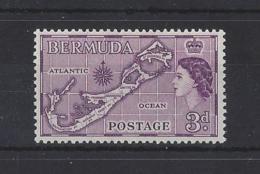 "BERMUDA....QUEEN ELIZABETH II.(1952-NOW).."" 1953 "".  3d.......SG140a........MH... - Bermudes"