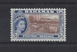 "BAHAMAS......QUEEN ELIZABETH II.(1952-NOW).."" 1954 "". ... 5d.........SG207.........MH... - Bahamas (...-1973)"