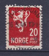 Norway 1940/41 Mi. 224    20 Ø Wappenlöwe Deluxe Cancel HAUGESUND !! - Norwegen