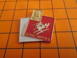 919 Pin's Pins / Beau Et Rare / Thème JEUX OLYMPIQUES / ALBERTVILLE 1992 MERIBEL SLALOM GEANT ET SUPER G - Barcos