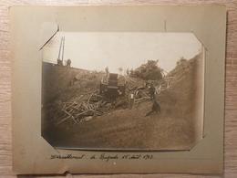 Déraillement De Bagnols, Lozère, Photo 1907, Train, Rare - Frankreich
