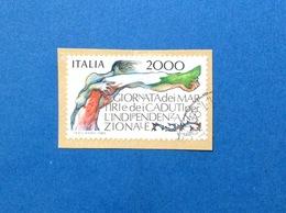 1986 ITALIA FRANCOBOLLO USATO STAMP USED GIORNATA DEI MARTIRI E DEI CADUTI - 6. 1946-.. Republic