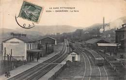 CPA LE GARD PITTORESQUE - GAGNIERES - La Gare - Other Municipalities