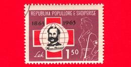 ALBANIA - Usato - 1963 - 100 Anni Della Croce Rossa - Henri Dunant (1828-1910), Founder Of The Red Cross - 1.50 - Albania