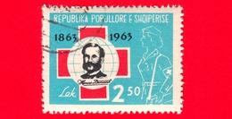 ALBANIA - Usato - 1963 - 100 Anni Della Croce Rossa - Henri Dunant (1828-1910), Founder Of The Red Cross - 2.50 - Albania
