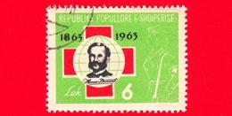 ALBANIA - Usato - 1963 - 100 Anni Della Croce Rossa - Henri Dunant (1828-1910), Founder Of The Red Cross - 6 - Albania