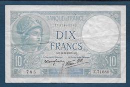 Billet 10 Francs Minerve Du  14 - 9 - 1939 - 1871-1952 Antichi Franchi Circolanti Nel XX Secolo