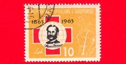 ALBANIA - Usato - 1963 - 100 Anni Della Croce Rossa - Henri Dunant (1828-1910), Founder Of The Red Cross - 10 - Albania