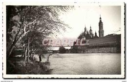 Espagne Spain Espana Zaragoza Basilica De Ntra Del Pilar Y Rio Ebro - Zaragoza