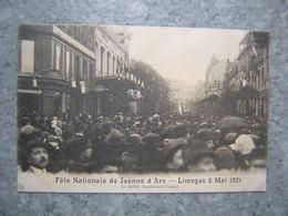 LIMOGES - FETE NATIONALE DE JEANNE D' ARC 1921 - LE DEFILE BD CARNOT - Limoges
