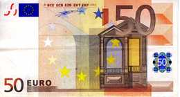 ALLEMAGNE - 50.00 € 2002 - Duisenberg - X21687143888 -P011H3 -circulé Voir Scan - EURO