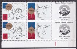 N° P2142A Philexfrance 82 Exposition Philatélique  Symboliques De Trémois: Belle Paire - Ungebraucht