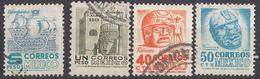 MESSICO - 1950/1952 - Lotto Di 4 Valori USATI: Yvert 633/636, Come Da Immagine. - Messico