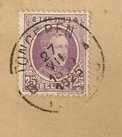 TIMBRES - Enveloppe Albert I - 25c, Oblitération Tongeren 1925. - 1915-1920 Albert I