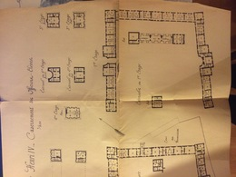 Rare : Plan Du Casernement Du Quartier Henri IV De Fontainebleau - Document Presque Séparé En 2 Horizontalement - Architecture