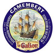 ETIQUETTE De FROMAGE..CAMEMBERT Fabriqué En NORMANDIE..Le Galion..Fromagerie De CHAMPSECRET ( Orne 61-S) - Cheese
