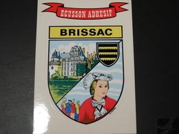 Blason écusson Adhésif Autocollant  Brissac (Maine Et Loire) Adhesivo Escudo Adesivi Stemma Aufkleber Wappen - Obj. 'Souvenir De'