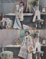 Get In My Bath Bathtub Washing With Sexy Lady 2x Risque Antique Postcard S - Postkaarten