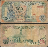 SOMALIA - 500 Shillings 1989 P# 36a Africa Banknote - Edelweiss Coins - Somalia