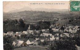 CPA ARETTE - VUE PRISE DE LA COTE DE GIROUN - France