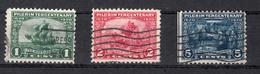 USA 1920 Mi Nr 255 - 257, Zeilschip Mayflower,  Landing Plymouth, Pilgrim Fahers - Verenigde Staten