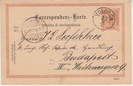 Österreich/Kroatien - Volosca 1891 K1 2 Kr. Ganzsache N. Budapest - Croazia