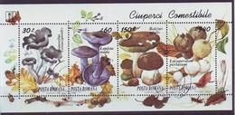 ROMANIA 5005-5008,used,mushrooms - 1948-.... Repúblicas