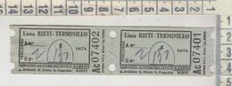 Biglietto Servizio Automobiilistico Sabino Linea Rieti Terminillo - Europe