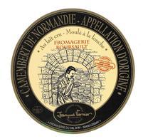 ETIQUETTE De FROMAGE..CAMEMBERT Fabriqué En  NORMANDIE..Fromagerie BOURSAULT.. Fromagerie Du VAL D'AY à LESSAY ( 50) - Cheese