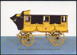 Post -  AK  BRD: Postwagen Der Dänischen Post Zw. Lübeck Und Hamburg Um 1845 - Post