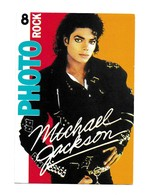 RARE CIRCULE TAMPON CPM MICHAEL JACKSON PHOTO ROCK 8 ALBUM PROMO BAD 29/09/ 1987 - Musique Et Musiciens
