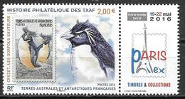 TAAF 2016 N°789 Neuf Expo Paris Philex Oiseaux Gorfous Sauteurs - Nuevos