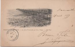 14 Trouville Sur Mer  La Jetee Promenade Par Gros Temps    Precurseur Circulee 1899 - Trouville