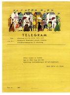 Svezia 1951 Telegramma Viaggiato Con Pianino A Cilindro, Tromba, Violino, Ombrelli, Musica ... - Music