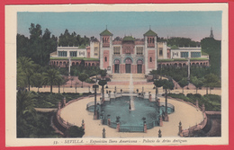 CPA-SEVILLA- 1929- EXPO IBERO AMERICAINE - Palacio De Artes Antiguos * 2 SCAN - Sevilla (Siviglia)