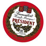 ETIQUETTE De FROMAGE..CAMEMBERT PRESIDENT ..fabriqué En  NORMANDIE..BESNIER - Cheese