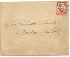 TIMBRE - Albert I Sur Enveloppe - 10c, Oblitération Eysden 1913. - 1915-1920 Albert I