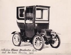 Collection Henri Malartre, Lyon, Cab De Dion Bouton 1900 - Voitures De Tourisme