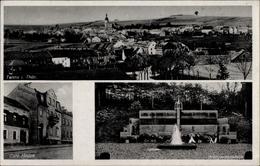 Cp Tanna Im Saale Orla Kreis Thüringen, Panorama, Kriegerdenkmal, Café Hoppe - Altri