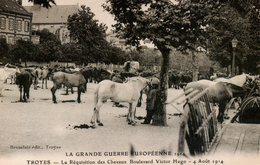 Guerre 14 18 : Troyes (10) Réquisition Des Chevaux Bd Victor Hugo Le 4 Août 1914 - Guerre 1914-18