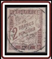 Colonies Générales - Timbre-taxe N° 16 (YT) N° 16 (AM) Oblitéré. Trou D'épingle. - Postage Due